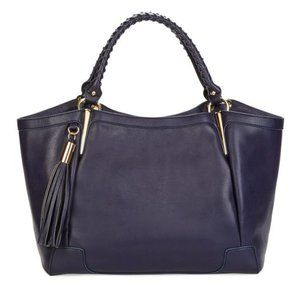 NWT JustFab Dark Violet Tassel Purse Bag